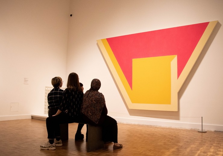 TAC members enjoy art in the Contemporary galleries at the Detroit Institute of Arts.