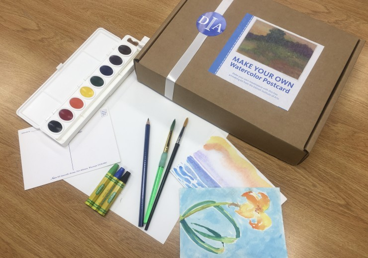 A CARE program at-home watercolor kit