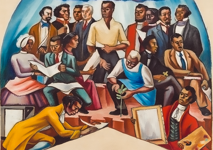 The Art of the Negro: Artists (Study) by Hale Woodruff, 1950–51. Detroit Institute of Arts.
