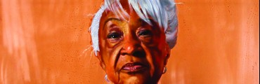 """Queen Mother Helen Moore,"" 2015, Mario Moore, oil on copper. Courtesy of the artist"