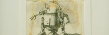 R2-D2 Concept Art, About 1975, Ralph McQuarrie, graphite pencil on paper. © & ™ 2018 Lucasfilm Ltd. All rights reserved. Used under authorization.