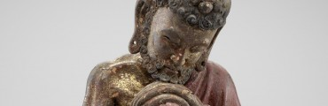"""""""Shakyamuni as an Ascetic,"""" late 1200s–early 1300s, China. wood, lacquer, gold, paint. Detroit Institute of Arts"""