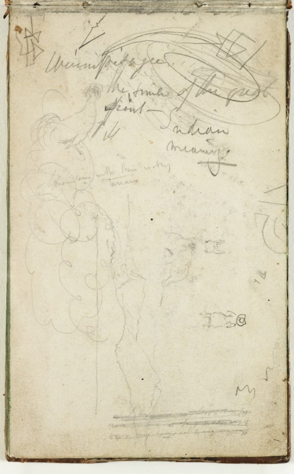 Thomas Cole, (Untitled), 1833, Graphite pencil on off-white wove paper. Detroit Institute of Arts.