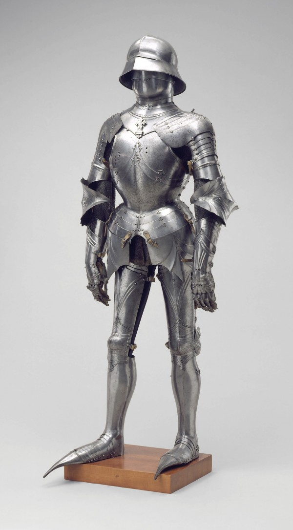 Lorenz Helmschmied, Armor in the Gothic Style, c. 1485 and later, Steel, copper alloy, leather. Detroit Institute of Arts.