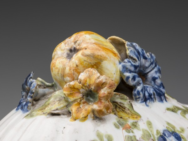 Unknown, Tureen Cover, middle 18th Century, Tin-glazed earthenware with polychrome decoration. Detroit Institute of Arts.