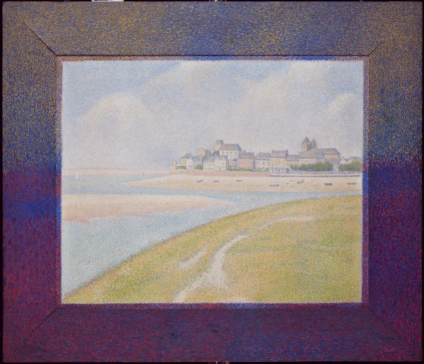 Georges Pierre Seurat, View of Le Crotoy from Upstream, 1889, oil on canvas. Detroit Institute of Arts.