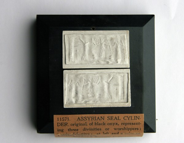 Assyrian, Cylinder Seal, Onyx. Detroit Institute of Arts.