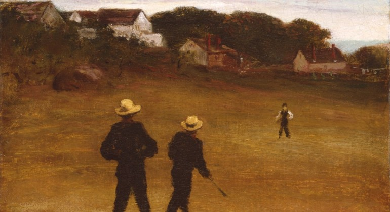 """""""The Ball Players,"""" 1871, William Morris Hunt, American; oil on canvas. Detroit Institute of Arts."""