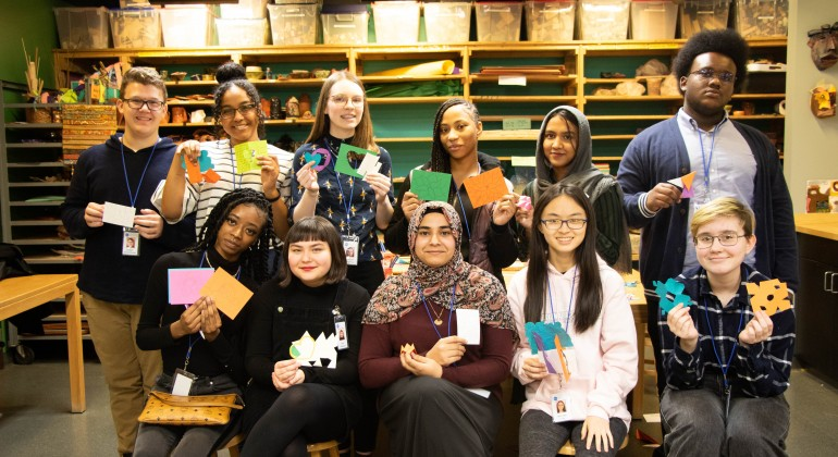 In the Studio, 2020 TAC members show off their creations after an art-making session.