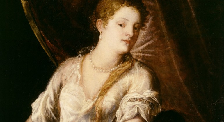 Judith with the Head of Holofernes, ca. 1570, oil on canvas; Titian, Italian, ca.1488-1576. Gift of Edsel B. Ford. 35.10