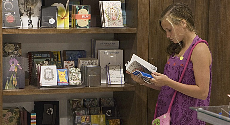 Browsing at the DIA Museum Shop