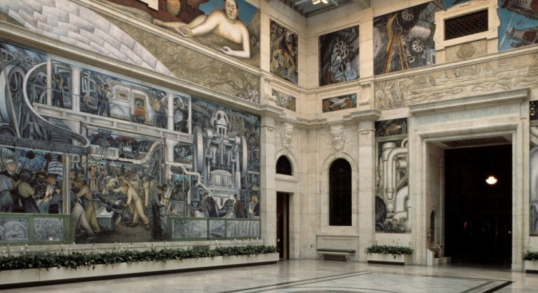 Thursdays at the museum art talk diego rivera and the for Detroit rivera mural