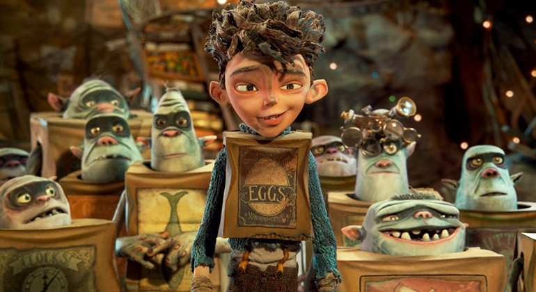 Eggs with some boxtrolls behind them