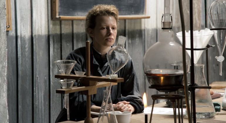 Marie Curie as seen in Marie Curie: The Courage of Knowledge
