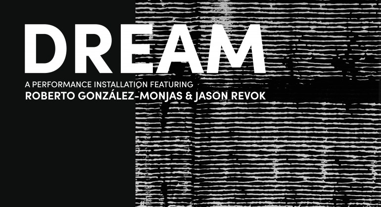 White text with the word DREAM and event description on black