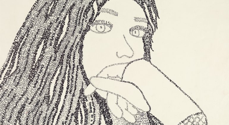Evelyn Olguin-Hernandez, Self-Portrait, Drawing, Grade 8, Academy of the Americas, Teacher: Kendra