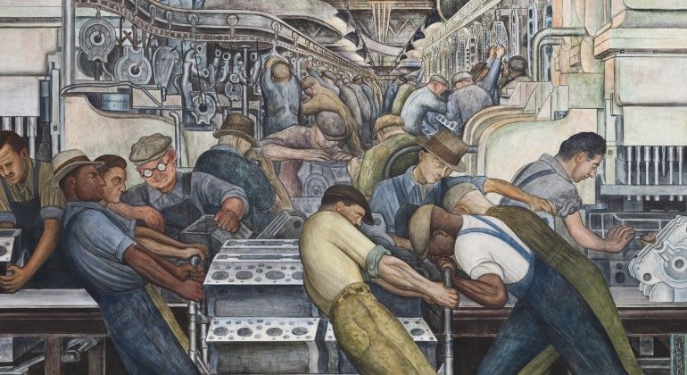 Detroit industry murals labor tours detroit institute for Diego rivera dia mural