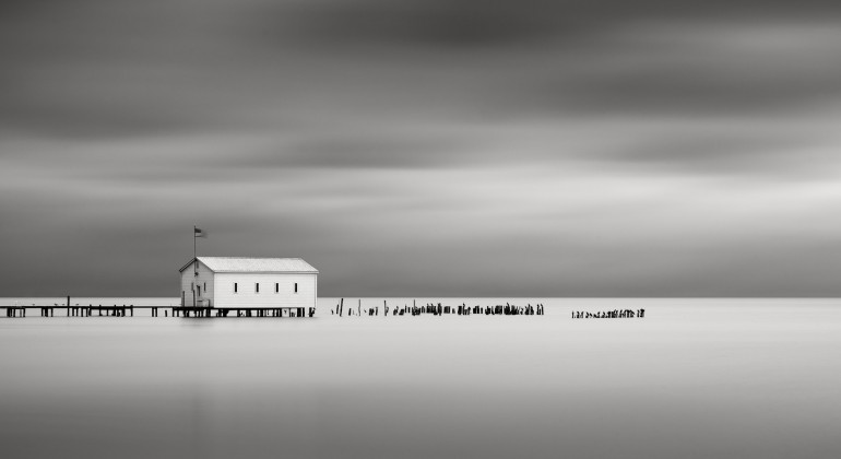 """""""On Anchor bay, Lake St. Clair, Michigan,"""" 2010, Jeff Gaydash, American. Collection of the artist."""