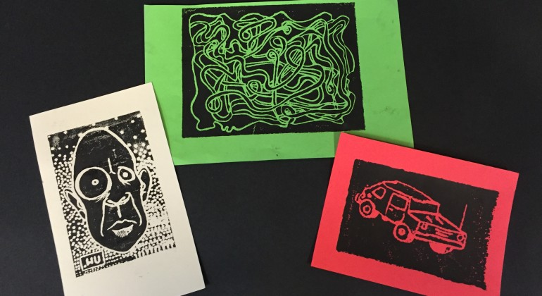 3 examples of printmaking