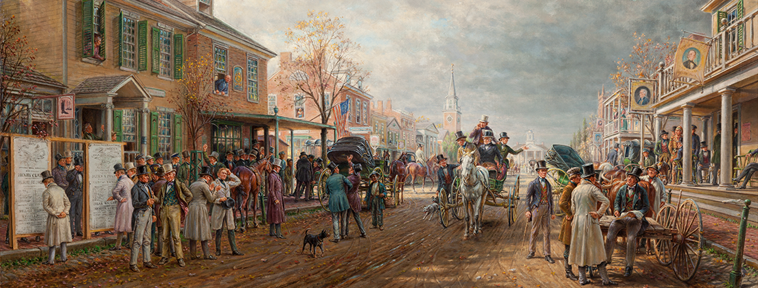 """Election Day 1844,"" 1913. Edward Lamson Henry, American, 1841-1919. Oil on canvas. Manoogian collection"