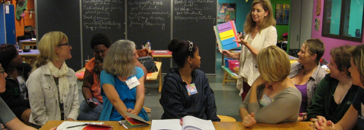 Teachers at a professional development workshop