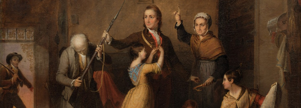 """""""Spirit of '76,"""" 1845, Tompkins H. Matteson, oil on canvas. Museum Purchase, Robert H. Tannahill Foundation Fund"""