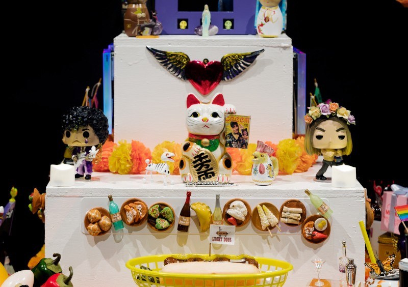 an Ofrenda alter from the 2020 exhibition