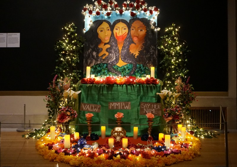 Sisterhood of Resistance Ofrenda from the 2020 Ofrendas exhibition