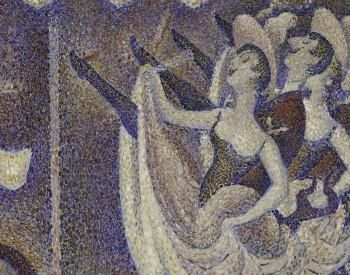 """Study for """"Le Chahut,"""" 1889, Georges Seurat, French; oil on canvas. Albright-Knox Art Gallery, General Purchase Funds, 1943:10."""