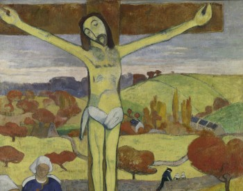"""""""The Yellow Christ,"""" 1889, Paul Gauguin, French; oil on canvas. Albright-Knox Art Gallery, General Purchase Funds, 1946:4"""