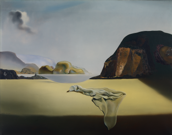 """""""The Transparent Simulacrum of the Feigned Image,"""" 1938, Salvador Dalí, Spanish; oil on canvas. Collection Albright-Knox Art Gallery, Buffalo, New York;Bequest of A. Conger Goodyear, 1966(1966:9.3)."""