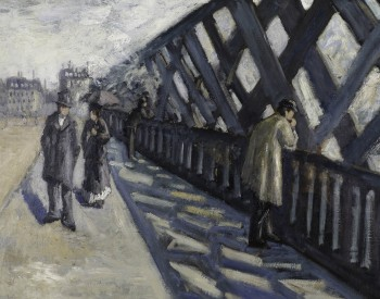 """Study for """"Le Pont de l'Europe,"""" 1876, Gustave Caillebotte, French; oil on canvas. Albright-Knox Art Gallery, Bequest of A. Conger Goodyear, by exchange, 1974:25."""