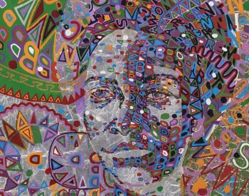 Wadsworth Jarrell (American, born 1929). Woman Supreme , 1974. Acrylic and metal foil on canvas; 45 1/2 × 29 1/2 in. (115.6 × 74.9 cm). Museum purchase, Contemporary Deaccession Fund, 2017.3.