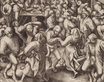 Newly acquired, this print by van der Heyden after Bruegel the Elder's design helps illustrates the popularity of The Wedding Dance after its creation.