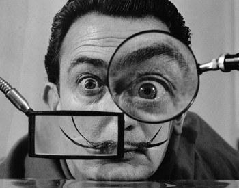 Willy Rizzo (Italian, 1928-2013), Salvador Dalí, Paris, 1950. Gelatin silver print, 12 x 16 in. (30.4 x 40.5 cm). Detroit Institute of Arts, Museum Purchase, Coville Photographic Fund, 2020.12.