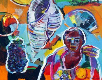 """""""Take it To The Limit,"""" 2013, Shirley Woodson, American; acrylic on canvas."""
