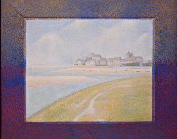 """""""View of Le Crotoy from Upstream"""", 1889, Georges Pierre Seurat, French; oil on canvas. Detroit Institute of Arts."""