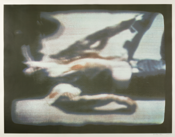 """""""Kent State, 1970,"""" 1970, Richard Hamilton, English; screenprint printed in color on wove paper. Detroit Institute of Arts."""