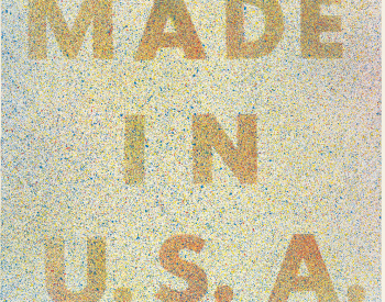 """""""America, Her Best Product,"""" 1974, Edward Ruscha, American; lithograph printed in color on wove paper. Detroit Institute of Arts."""
