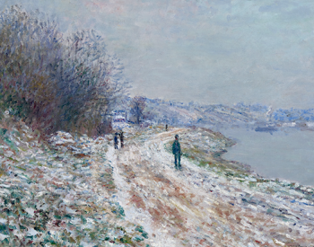 Towpath at Argenteuil, Winter, 1875–76, Claude Monet, French; oil on canvas. Albright-Knox Art Gallery, Gift of Charles Clifton, 1919:8.