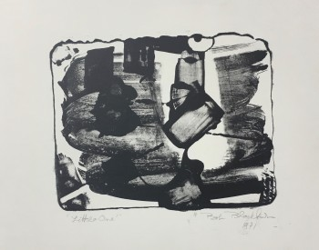 Robert Blackburn (American, 1920–2003). Little One (aka Little Stone, Notation), 1960s–1971. Lithograph; 8 x 12 in. Nelson/Dunks Collection. Photograph by Greg Staley.