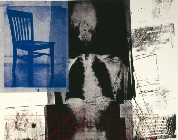 """""""Booster,"""" 1967, Robert Rauschenberg, American; lithograph and screenprint printed in color ink on wove paper. Detroit Institute of Arts"""