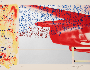 """""""F-111 (South),"""" 1974, James Rosenquist, American; lithograph and screenprint printed in color on wove paper. Detroit Institute of Arts."""