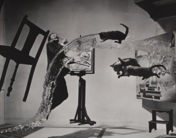 Philippe Halsman (American, born Latvia, 1906–1979). Dalí Atomicus, 1948. Gelatin silver print, 10 1/8 x 13 1/8 in. (25.8 x 33.3 cm). Gilbert B. and Lila Silverman Collection, Detroit. © Halsman Archive 2020