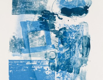 Robert Rauschenberg (American, 1925–2008). Stunt Man 1, 1962. Lithograph in two colors; 22 ½ x 17 ½ in. Courtesy Universal Limited Art Editions. Used with Permission.