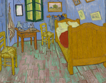 """The Bedroom,"" 1889, Vincent van Gogh, Dutch; oil on canvas. The Art Institute of Chicago, Helen Birch Bartlett Memorial Collection, 1926.317."