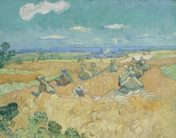 """Wheat Field with Reaper,  Auvers,"" 1890, Vincent van Gogh, Dutch; oil on canvas. Toledo Museum of Art, Purchased with funds from the Libbey Endowment, Gift of Edward Drummond Libbey, 1935.4."