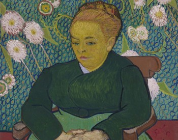 """Madam Augustine Roulin Rocking a Cradle,"" 1889, Vincent van Gogh, Dutch; oil on canvas. Museum of Fine Arts, Boston, Bequest of John T. Spaulding, 48.548."