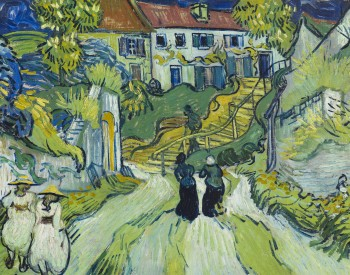 """Stairway at Auvers,"" 1890, Vincent van Gogh, Dutch; oil on canvas. Saint Louis Art Museum, Museum Purchase 1:1935."