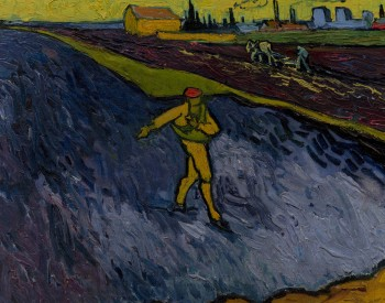 """The Sower,"" 1888, Vincent van Gogh, Dutch; oil on canvas. The Armand Hammer Museum of Art, UCLA Hammer Museum, Los Angeles."